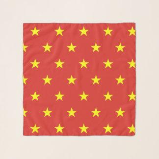 Bufanda cuadrada con la bandera de Vietnam