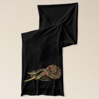 Bufanda de la moda de la serpiente y del rosa del