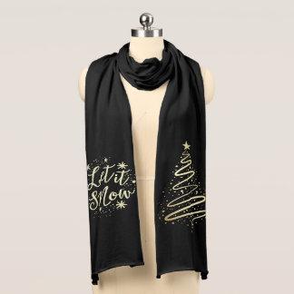 Bufanda Dejáis le nevar árbol de navidad moderno del oro