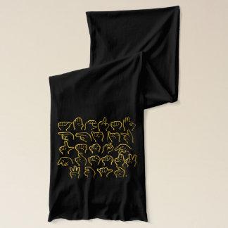 Bufanda del alfabeto del ASL