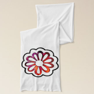 Bufanda Doodle caprichoso del flower power