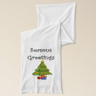 Bufanda El árbol de navidad sazona saludos