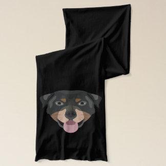 Bufanda El ilustracion persigue la cara Rottweiler