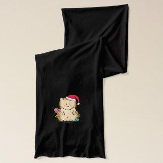 Bufanda Erizo lindo del navidad