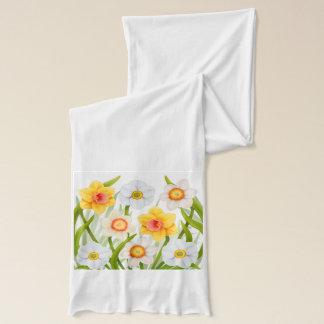 Bufanda floral de los narcisos de la primavera