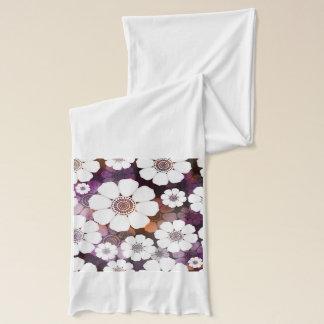 Bufanda Flower power púrpura enrrollado