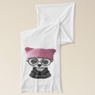 Bufanda Gorra del gatito de la panda linda del bebé que