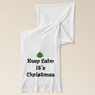 Bufanda Guarde la calma su navidad y árbol