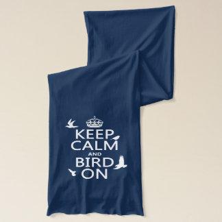Bufanda Guarde la calma y el pájaro encendido