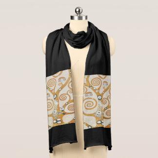 Bufanda Gustavo Klimt el árbol del arte Nouveau de la vida