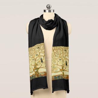 Bufanda Gustavo Klimt el árbol del arte Nouveau del