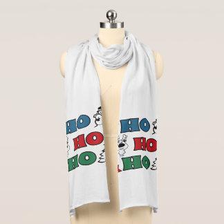 Bufanda Ho-Ho-Ho diseño del navidad