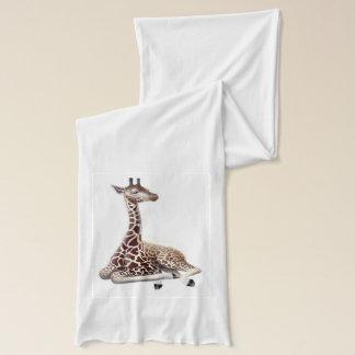 Bufanda joven de reclinación de la jirafa