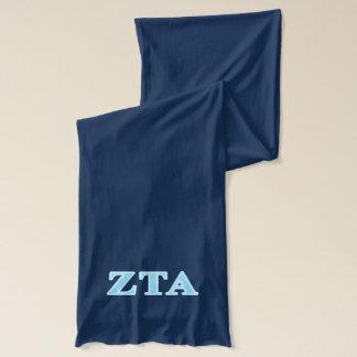 Bufanda Letras alfa de los azules cielos del Tau de la