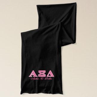 Bufanda Letras rosadas del delta de la alfa XI