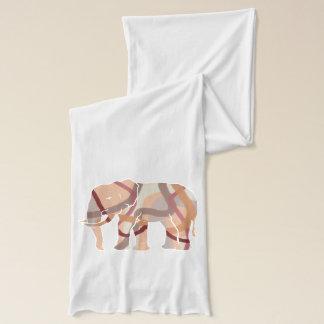 Bufanda Líneas onduladas elefante Silhoulette de los años