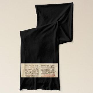 Bufanda medieval del manuscrito