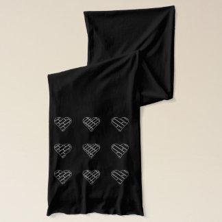Bufanda negra decorativa roja para mujer de los