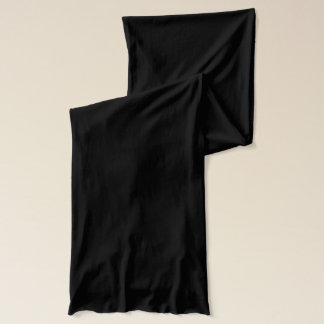 Bufanda negra del jersey