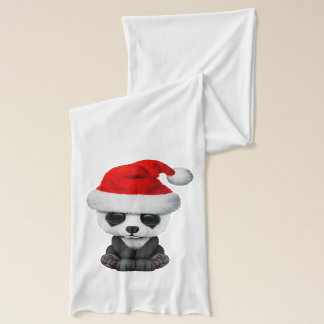 Bufanda Oso de panda del bebé que lleva un gorra de Santa
