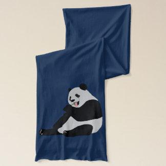 Bufanda Panda gigante con las hojas y el cerezo del bambú