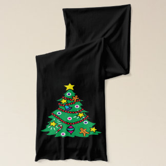 Bufanda Papá Noel y árbol de navidad