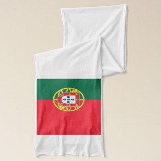 Bufanda patriótica con la bandera de Portugal