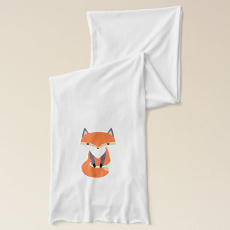 Bufanda Pequeño ilustracion lindo del Fox rojo