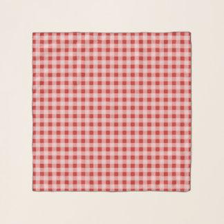 Bufanda roja de la gasa del modelo de la tela