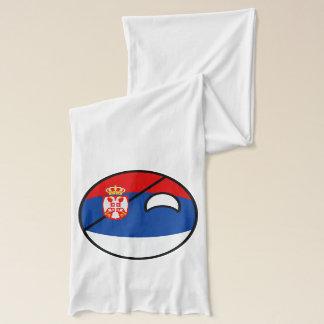 Bufanda Serbia Geeky que tiende divertida Countryball