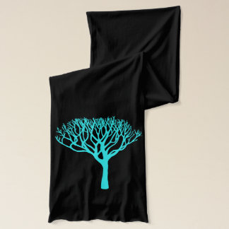 Bufanda Silueta del árbol de la aguamarina de la MOD
