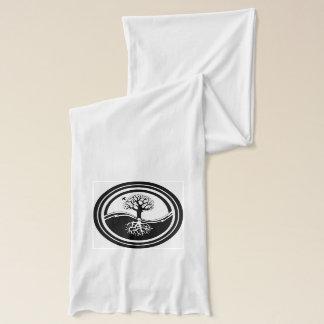 Bufanda Símbolo blanco y negro del árbol de Yin Yang