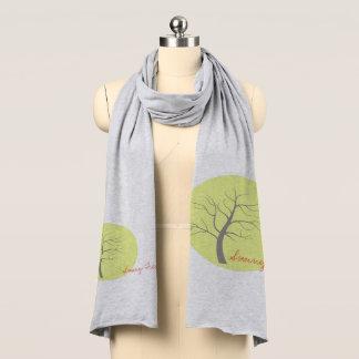 Bufanda suave enrrollada del jersey del árbol