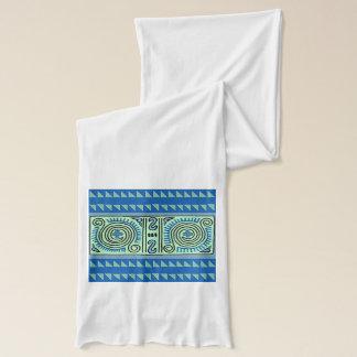 Bufanda tribal azul colorida del jersey de
