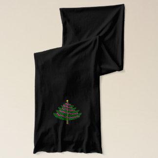 Bufanda verde del árbol de navidad del día de