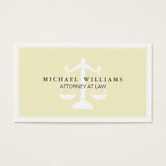 Bufete de abogados del abogado profesional simple tarjeta de negocios