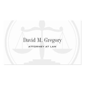 Bufete de abogados del abogado profesional simple  plantillas de tarjeta de negocio