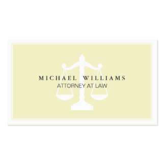 Bufete de abogados del abogado profesional simple plantilla de tarjeta de negocio