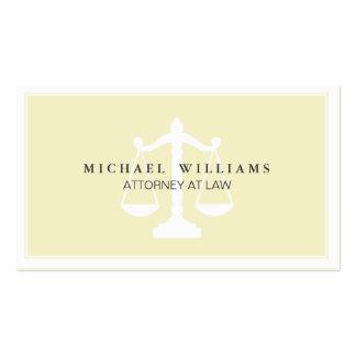 Bufete de abogados del abogado profesional simple tarjetas de visita