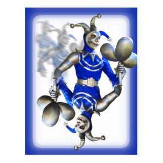 Bufón azul postal