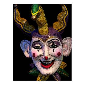 Bufón del carnaval postal