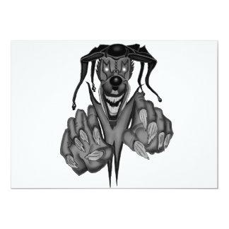 Bufón oscuro invitación 12,7 x 17,8 cm