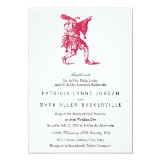 Bufón shakesperiano invitación 12,7 x 17,8 cm