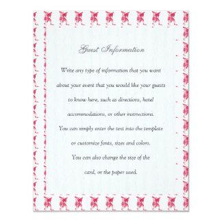 Bufón shakesperiano invitación 10,8 x 13,9 cm