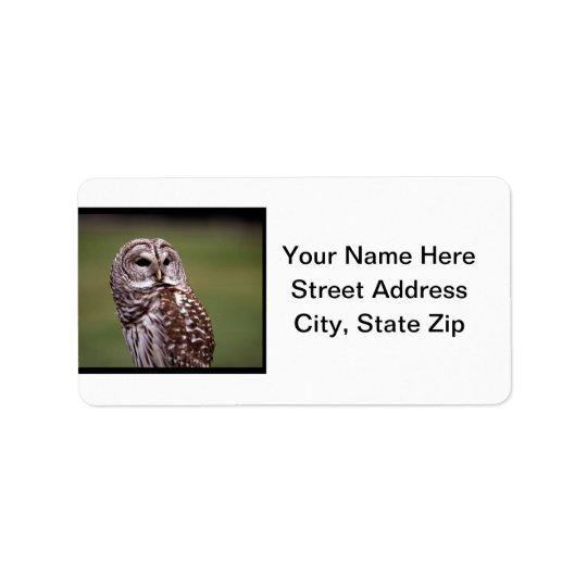 Búho (5) etiquetas de dirección