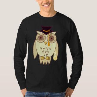 Búho académico camisetas