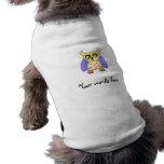 Búho amarillo y púrpura ropa de perro
