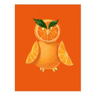 Búho anaranjado postal