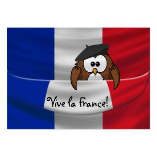 Búho de Francia del la de Vive Tarjetas De Visita Grandes