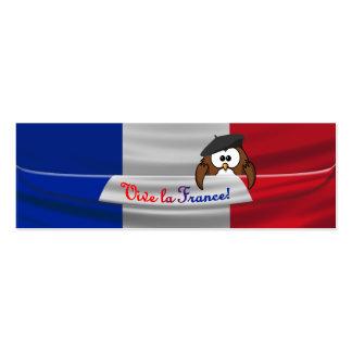 Búho de Francia del la de Vive Tarjetas De Visita Mini